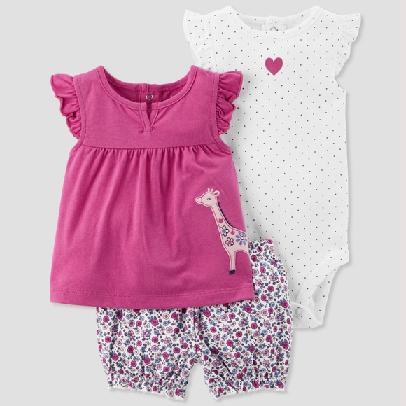 Just One You by Carter's Other - Carters Baby Girl Summer Clothes Outfit Short Set